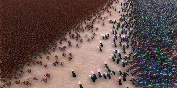 Epic Battle jedi's-vs-spartans