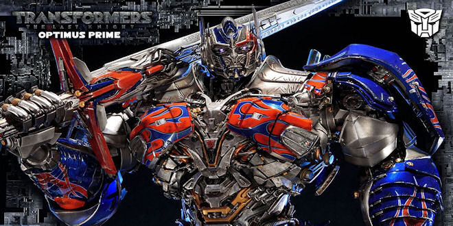 Transformers The Last Knight Optimus Prime Statue - Sideshow Prime 1 Studio