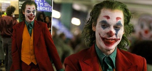 PICS: The Joker Phoenix takes over New York tubes station as Joaquin Phoenix films in full makeup