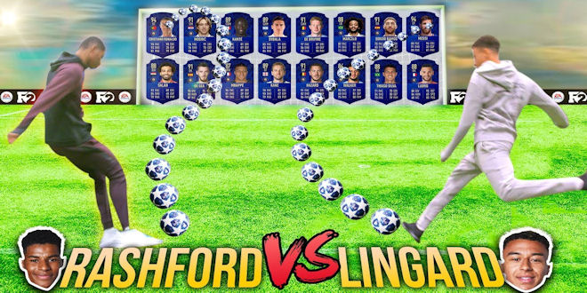 Jesse Lingard vs Marcus Rashford in Fifa 19 Ultimate Team