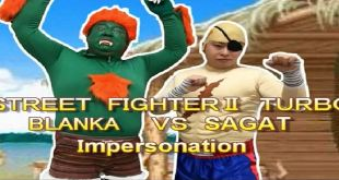 StreetFighter 2 Turbo - SFX Real Life Sound Battle - Funny Video Sagat vs Blanka