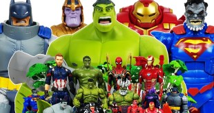 Hulk, Hulkbuster vs Thanos! Avengers Go~! Iron Man, Captain America, Spider-Man, Superman! & Batman