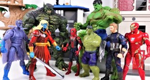 MARVEL AVENGERS GO~! HULK, SPIDER MAN, IRON MAN, CAPTAIN AMERICA! Defeat the Thanos - Charles toy