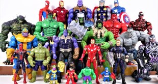 MARVEL AVENGERS SUPER HERO COLLECTION GO~! HULK, SPIDER MAN, IRON MAN, CAPTAIN AMERICA - Charles Toy