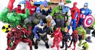 MARVEL TITAN HERO SERIES~! AVENGERS HULK, THOR, IRON MAN, SPIDER MAN, CAPTAIN AMERICA-Charles Toy