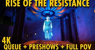 Rise of the Resistance Queue, Preshows, and Full Ride POV | Star Wars: Galaxy's Edge