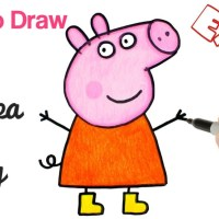 How to Draw Peppa Pig | Cartoon Drawings for beginners | Art Tutorial