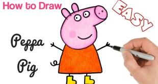 How to Draw Peppa Pig | Cartoon Drawings for beginners | Art Tutorial