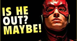 Is Ezra Miller out as THE FLASH? New report says...maybe