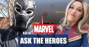SUPERHEROES FAVORITE FOODS   CAPTAIN MARVEL @ DISNEYLAND   ASK THE HEROES