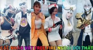 Đại Hội Cosplay Các Nhân Vật Free Fire Trong Game Và Ngoài Đời - Tik Tok Free Fire
