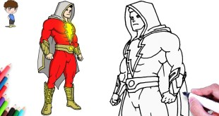 How to Draw Shazam DC Superhero Drawing Easy Step by Step