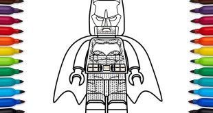 How to draw Lego Batman from DC Comic's Justice League movie - DC Super Heroes