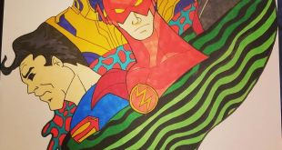 New drawing started superhero themed art. . . .                       ...