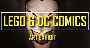 THE ART OF THE BRICK ACTION COMICS EXHIBIT BY NATHAN SAWAYA IN BRAZIL