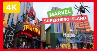 [4K] 🟥🕸UNIVERSAL STUDIOS Orlando MARVEL superhero island RIDES walkthrough [ISLANDS OF ADVENTURE]
