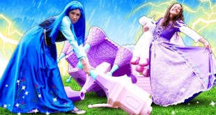Disney Princesses and Giant Princess Castle: Cosplay video