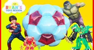 GIANT BALL SURPRISE OPENING Marvel Avengers SuperHeroes Toys
