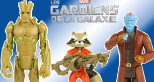 Les Gardiens de la Galaxie Groot Rocket Yondu Figurines Marvel Hasbro Jouet Toy Unboxing