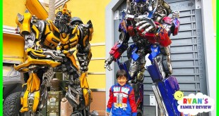 Life Size Transformers Optimus Prime and Bumblebee at Universal Studios Amusement Park!