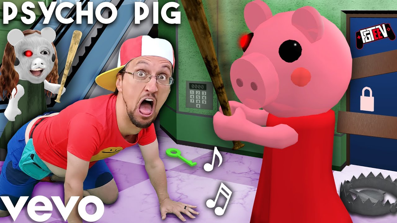 Hacks In Piggy Roblox Carnival Psycho Pig Fgteev Official Music Video Roblox Piggy Song