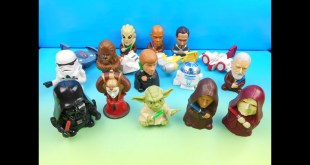 2005 STAR WARS EPISODE III COMPLETE THE SAGA SET OF 17 BURGER KING KIDS MEAL TOYS VIDEO REVIEW