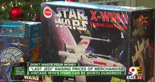 'Last Jedi' raising value of old Star Wars merchandise