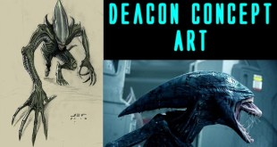 Alien Deacon concept art from the Fire and Stone comic series