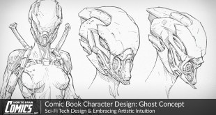 Comic Book Character Design: Ghost Concept | Sci-Fi Tech Design & Embracing Artistic Intuition