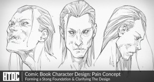 Comic Book Character Design: Pain Concept | Forming a Stong Foundation & Clarifying The Design