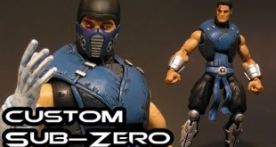 Custom SUB-ZERO Mortal Kombat Marvel Legends Figure Review