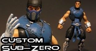 Custom SUB-ZERO Mortal Kombat Marvel Legends Figure Review