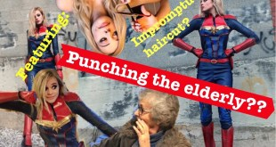 DIY Captain Marvel Costume (Ft. Punching an old lady)