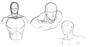 How to Draw Comics - Attaching the Head to the Torso