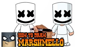 How to Draw Marshmello - Art Tutorial Video