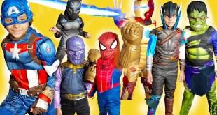 Marvel Avengers Spiderman Costume runway show Venom Iron man superheroes kids toys video halloween