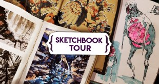 My new SKETCHBOOK TOUR! May 2020 - Comic concept art, gouache +  watercolor painting, pose practice
