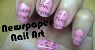 Newspaper Nail Art Tutorial  | RealAsianBeauty