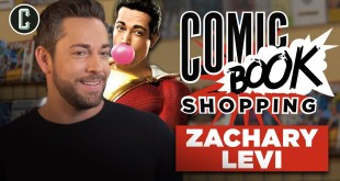 Shazam Star Zachary Levi Goes Comic Book Shopping