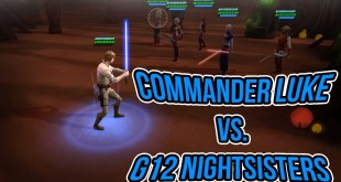 Solo Commander Luke Skywalker VS. Gear 12 Nightsisters (Before Rework) | Star Wars: Galaxy of Heroes