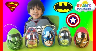 Easter Eggs Surprise Opening 2016 Marvel SuperHeroes Toys