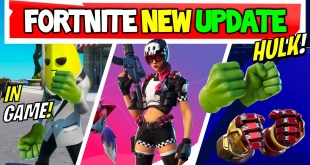 Fortnite Update: Hulk Pickaxe in Game Preview,  Lady Bird Skin, Map Changes and More!