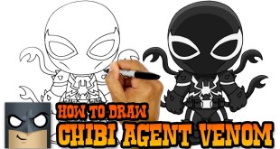 How to Draw Agent Venom - Marvel Comics Tutorial Video
