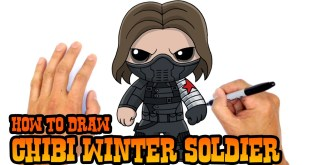 How to Draw Winter Soldier from The Avengers Marvel Chibi Style.
