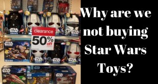 Star Wars Toys Not Selling. No one is buying.