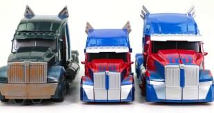 Transformers 5 TLK KO Over Sized Optimus Prime & Voyager Leader Opitmus Prime Truck Robot Toys