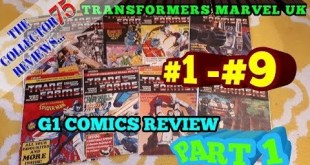Transformers Marvel UK G1 Comics # 1 - 9 Review Part 1