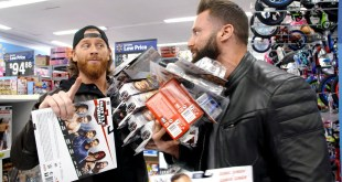 Curt Hawkins & Zack Ryder go on a WrestleMania figure hunt at Walmart