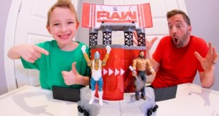 Father & Son GET BEST TOY SET EVER! / WWE Wrekkin Entrance Stage