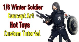 #Hottoys #CustomTutorial 1/6 Winter Soldier Concept art custom